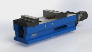 The FAR Hydro Mechanical Vise is ideal for heavy duty clamping. It comes with a high pressure hydraulic intensifier (No external power supply required)